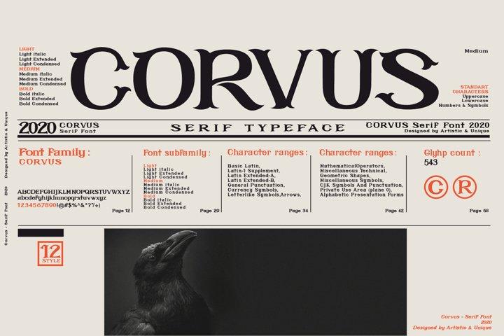 CORVUS Serif font Family