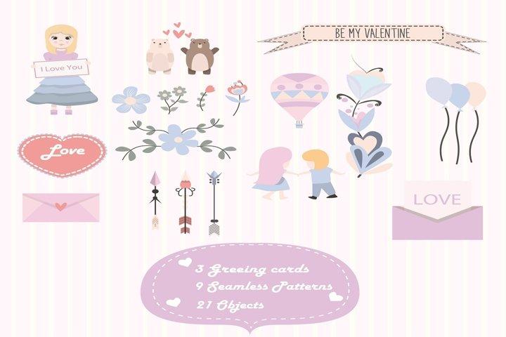 I am your Valentine vector illustration pack