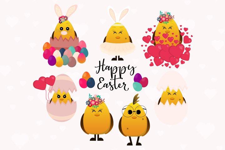 Easter Chicken clipart, Cute Easter Chicken svg, Chicken