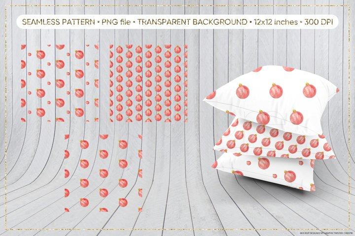 Christmas Ball Seamless Pattern, Seamless Pattern PNG