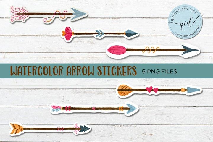 Watercolor Arrow Sticker