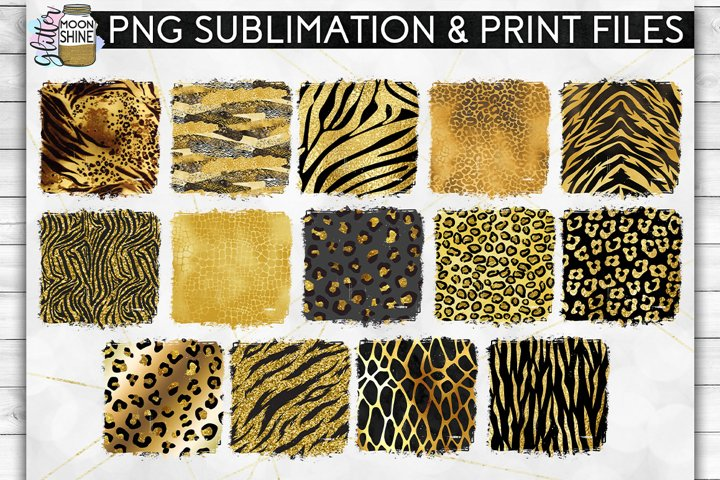 Glam Animal Print Bundle of 42 Sublimation Background PNG example 3