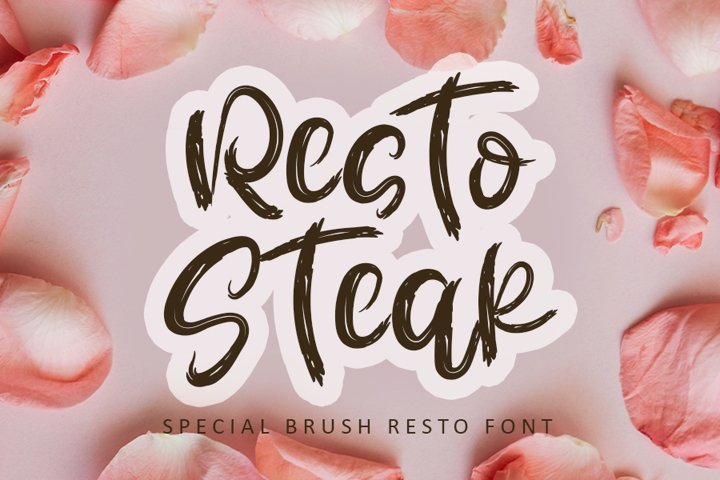 Resto Steak - Brush Calligraphy Font