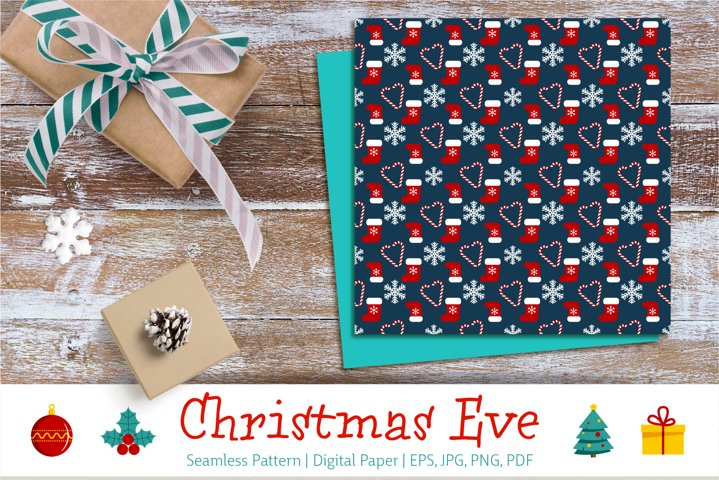 Christmas Eve | Seamless Pattern | Digital Paper