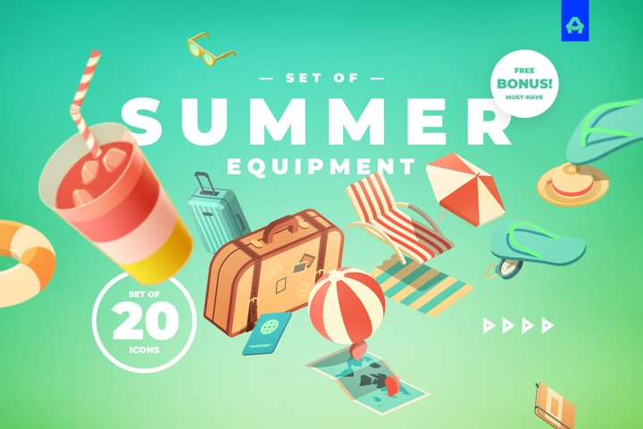 Set of Summer Equipment