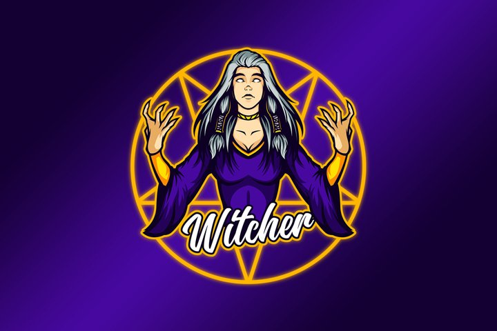 Anger of the Witch Lady #2 Mascot Vector Template