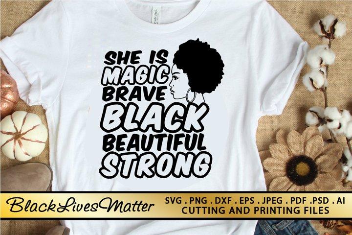 Black Woman Svg Png Eps Dxf Black Girl Magic Svg Afro Svg 752621 Illustrations Design Bundles