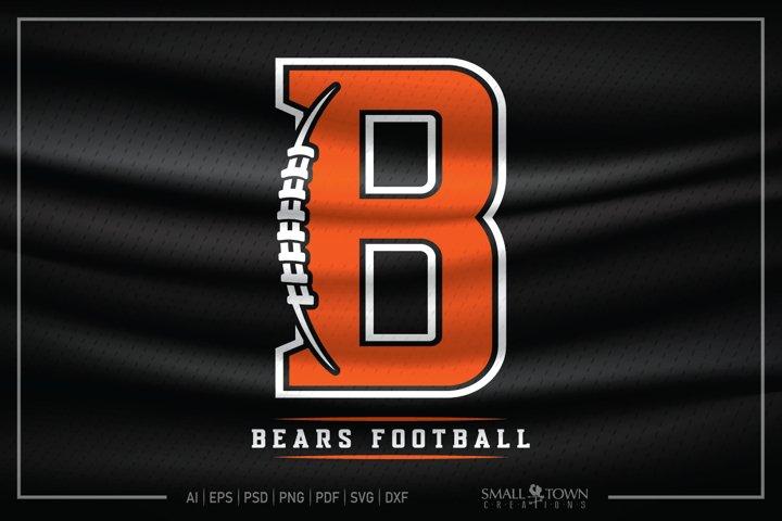 Bear, Bear Football, Bear Mascot, Football svg, Bear svg