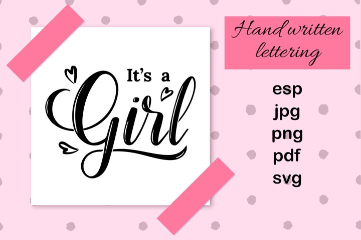 Its a girl hand drawn card.
