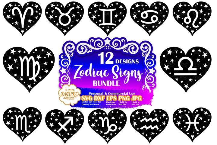 Zodiac Sign SVG Bundle | Astrology SVG | Horoscope SVG