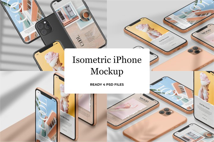 Isometric iPhone Mockup v2