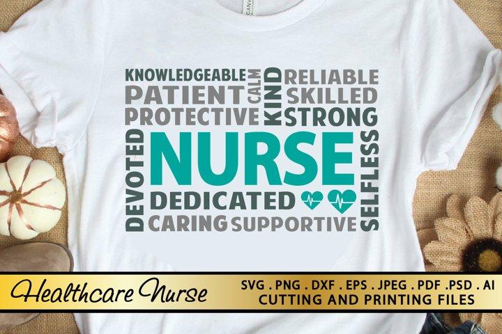 Nurse SVG PNG EPS DXF Nursing SVG Cutting and Printing Files