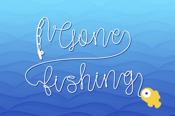 Gone Fishing - a fishing line font