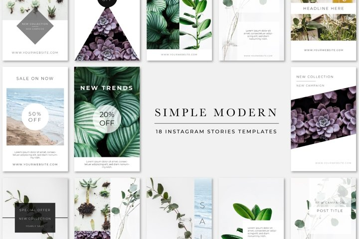 Simple Modern Instagram Stories Pack