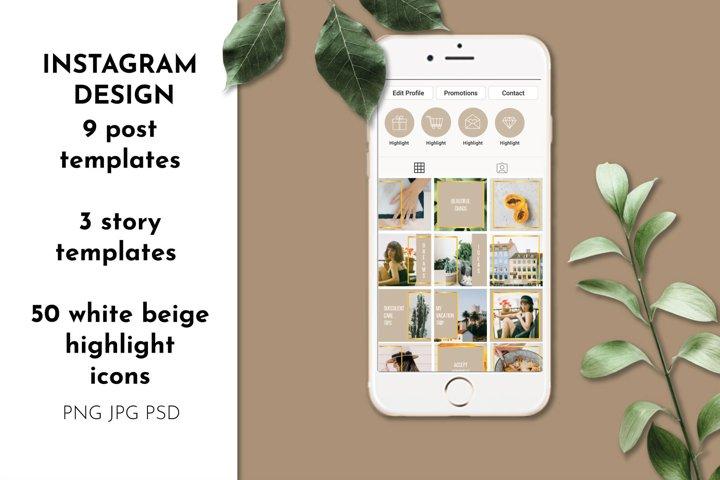 Instagram Templates 50 Instagram Highlights Instagram puzzle
