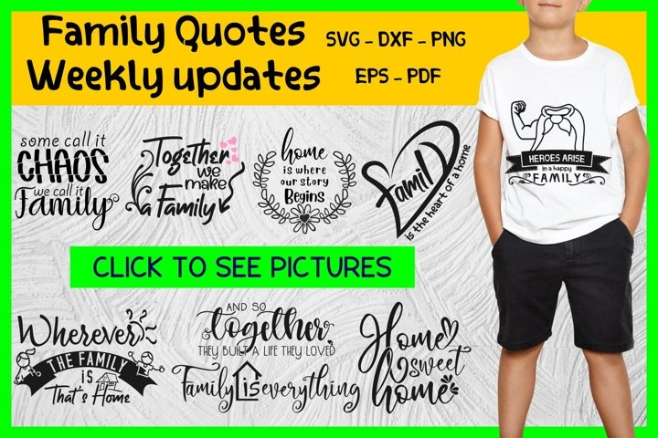 family quotes svg bundle cut files, family tree svg,