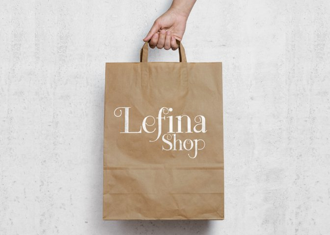 Lefina - Free Font of The Week Design3
