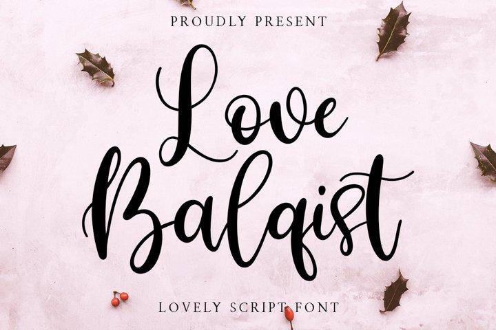 Love Balqist Script