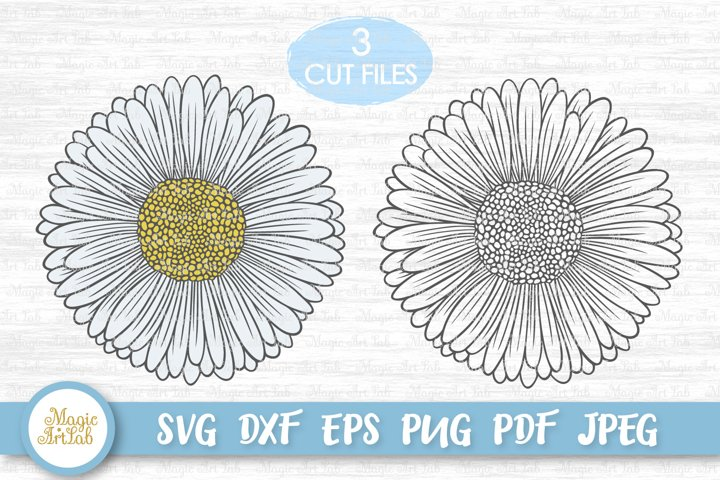 Daisy svg, Daisy flower svg, Gerber svg, Flower svg file