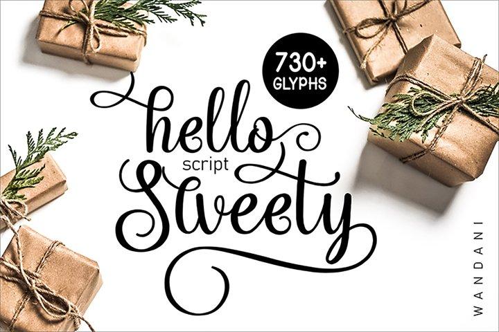 Hello Sweety // Script Font