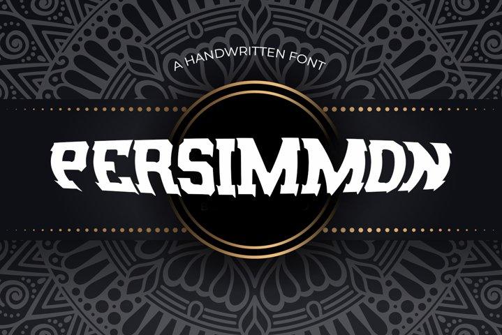 Persimmon Vintage Font