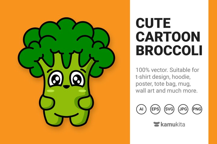 Cute Cartoon Broccoli