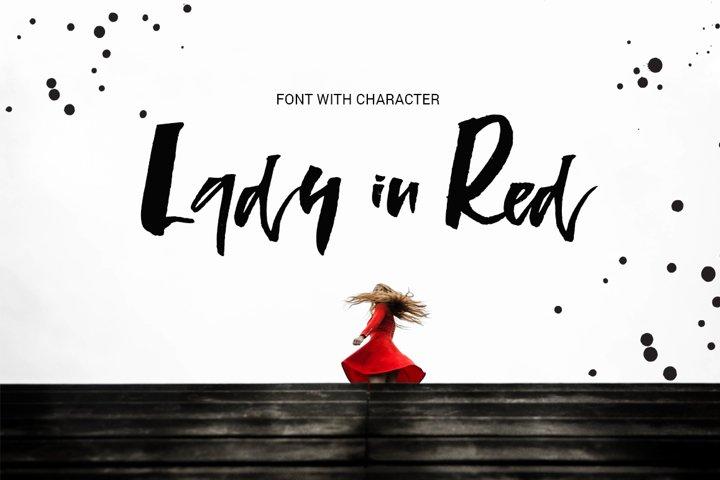 Lady in Red - script font