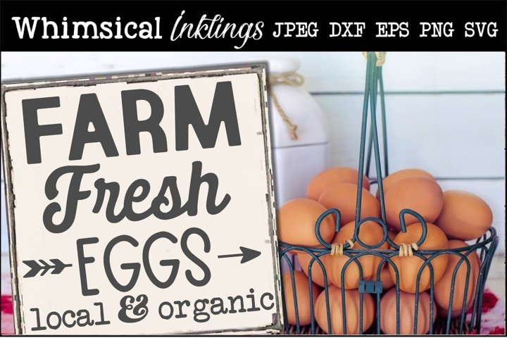 Farm Fresh Eggs 3 SVG