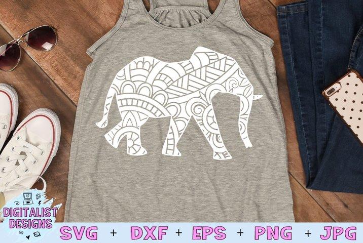 Elephant SVG   Mandala SVG   Zentangle SVG   Cricut