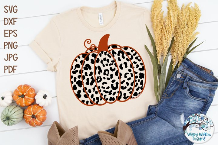 Pumpkin with Leopard Print SVG Cut File