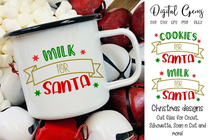 Cookies and Milk for Santa SVG / DXF / EPS / PNG files