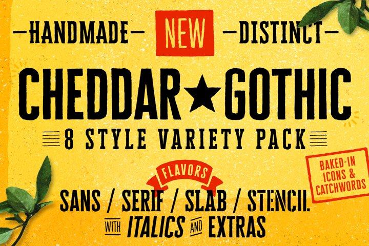 Cheddar Gothic Font Family