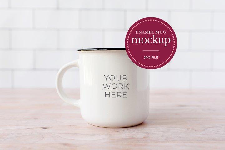 Mug Mockup | Enamel Mug Mockup | Coffee Mug JPG
