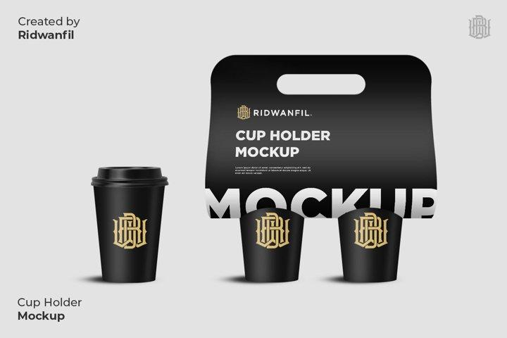 Cup Holder Mockup Coffee