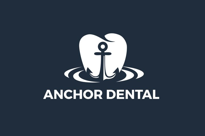 Anchor And Dental Logo Design Vector