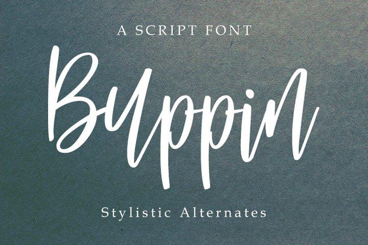 Buppin font