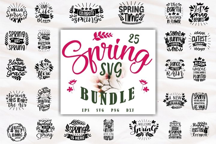 Spring SVG Bundle Quotes, Beautiful Flowers Collection