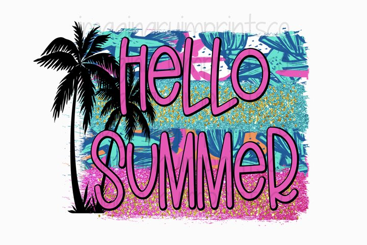Hello Summer Sublimation Png - Summer png