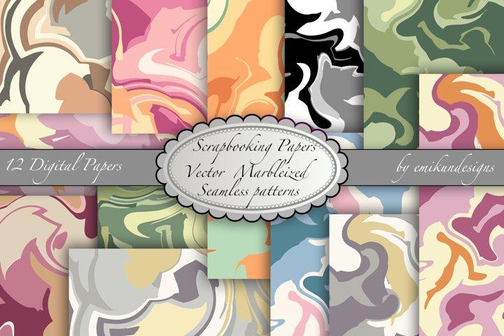 Vector Marbleized Digital Scrapbook paper
