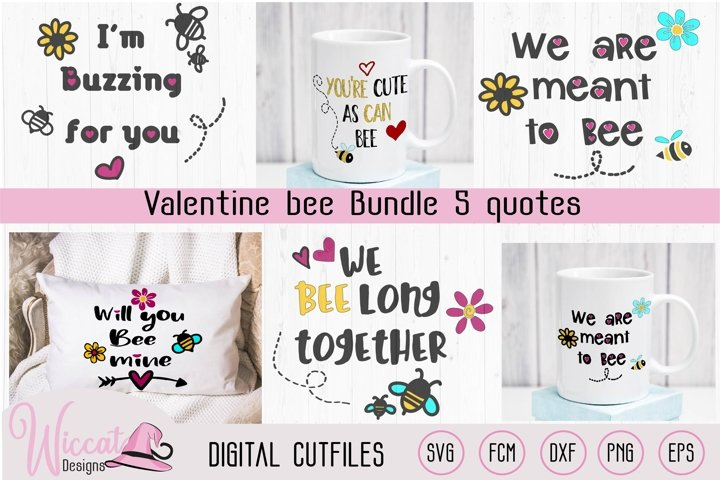 Valentine Bee pun bundle svg, Will you bee mine, meant to be