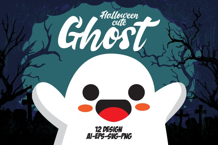 HALLOWEEN CUTE GHOST SET