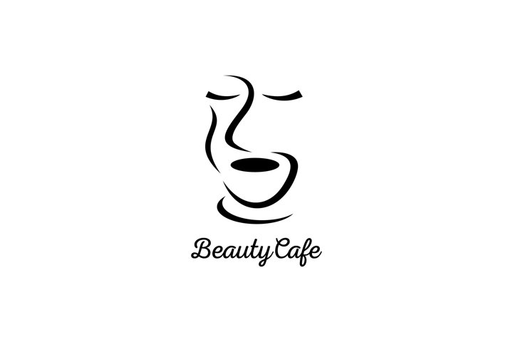 Beauty Cafe Logo Design Template