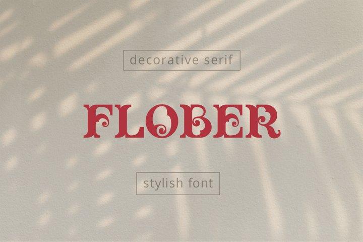 Flober decorative serif