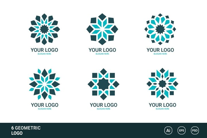 6 Geometric Logo Collection