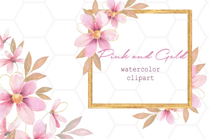Pink and gold floral decor