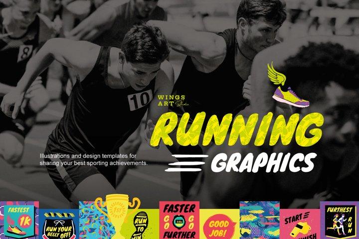 Running and Sports Achievement Graphics