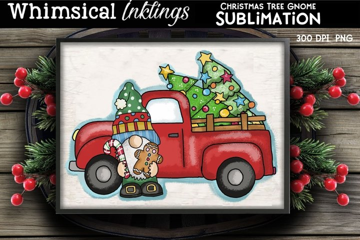 Christmas Tree Gnome Sublimation Clipart