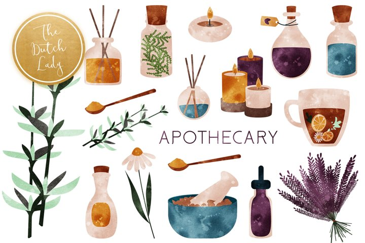 Apothecary & Holistic Clipart Set