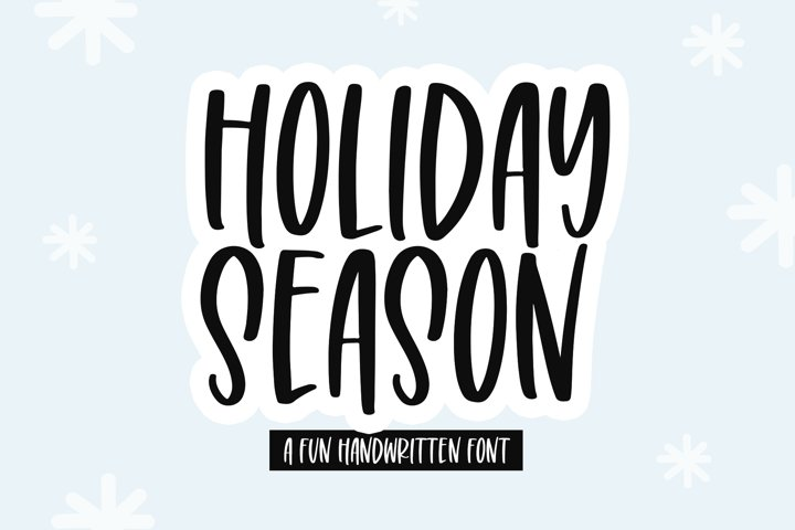 Holiday Season - A Tall Handwritten Font