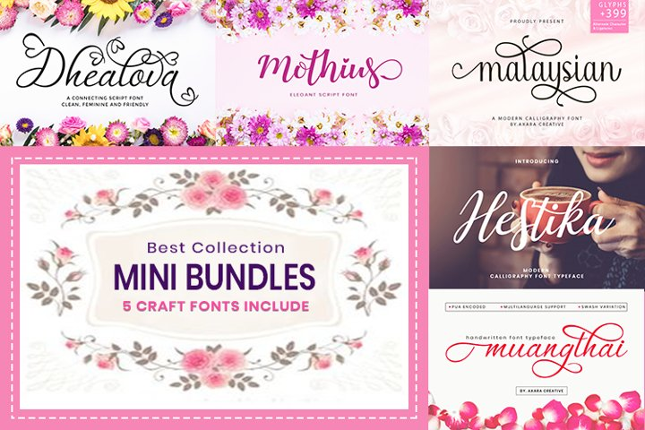 Web Font Mini Bundles Craft Fonts $1/Font